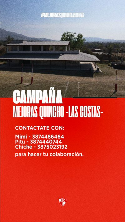 CAMPAÑA MEJORA QUINCHO LAS COSTAS
